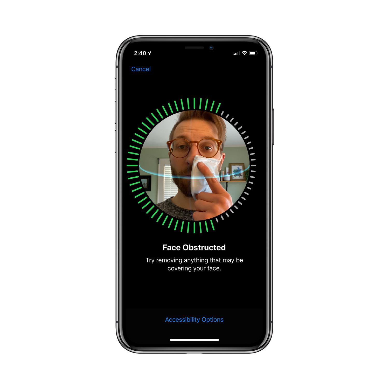 マスクを装着したままiPhoneのFace ID認証する方法