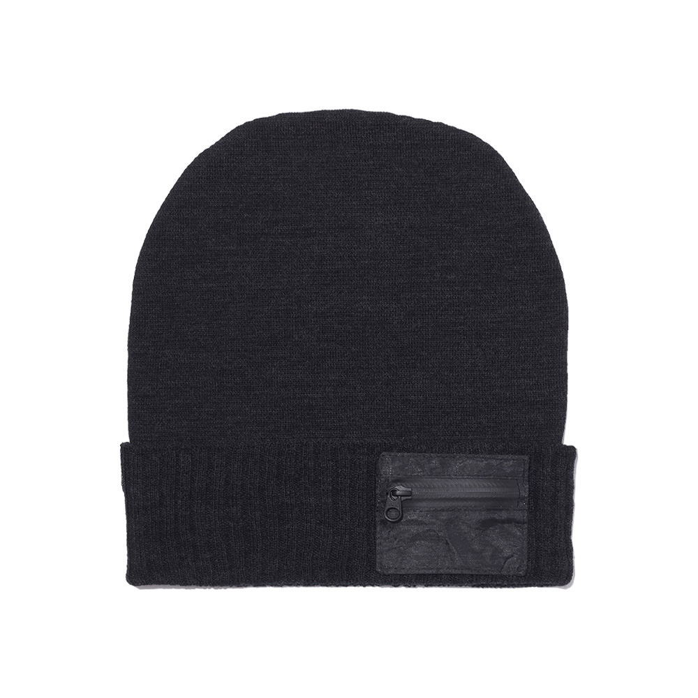 NEXTRAVELER TOOLS Black Pocket with Merino Wool Knit Cap