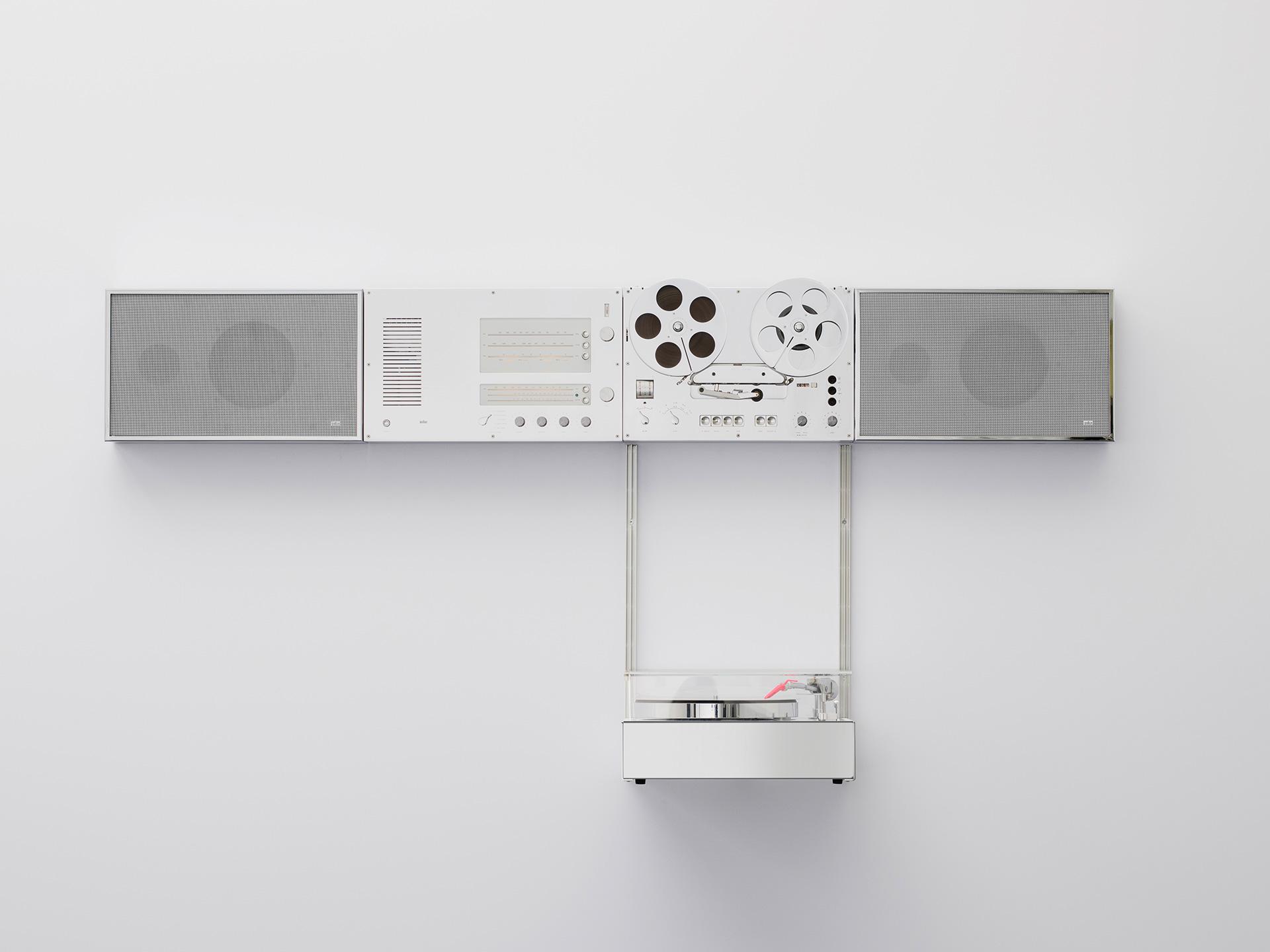 Braun × Virgil Abloh Wandanlage Stereo System